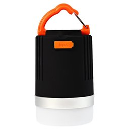 rechargeable emergency lanterns NZ - Wholesale- 2016 Hot Sale Outdoor Lantern Outdoor Rechargeable LED Waterproof Camping Tent Lantern Power Bank Emergency Light with Hook