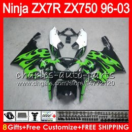1999 Kawasaki Zx7r NZ - 8Gifts 23Colors For KAWASAKI NINJA ZX7R 96 97 98 99 00 01 02 03 green flames 18HM6 ZX750 ZX 7R ZX-7R 1996 1997 1998 1999 2000 2003 Fairing