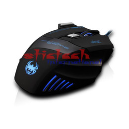 по dhl или ems 200 шт. Зелот T80 подсветка 7200 точек / дюйм 7 кнопка мыши Gamer Gaming Multi Color LED оптический USB проводной игровой мыши на Распродаже