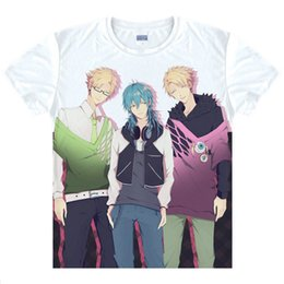 Barato Assassinato Dramático Aoba-Assassinato dramático Noiz Camisetas Anime Impresso Camisetas Aoba Manga curta Camisetas Seda Casual Summer Tops