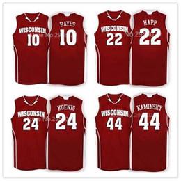 befd737ec76 Cheap custom  10 Nigel Hayes 15 Sam Dekker  24 Bronson Koenig  44 Frank  Kaminsky  22 Ethan Happ Wisconsin Badgers College Basketball Jersey cheap  24 ...