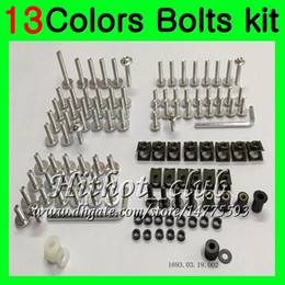 $enCountryForm.capitalKeyWord Australia - Fairing bolts full screw kit For HONDA CBR400RR NC29 CBR400 RR CBR 400 RR 95 96 97 98 1995 1996 1998 Body Nuts screws nut bolt kit 13Colors