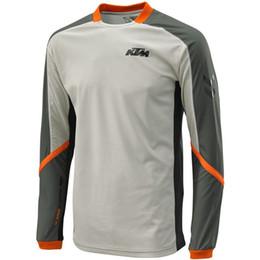 Manga larga de la manga de la motocicleta de KTM Motocicleta seca rápida que compite con las camisas que completan un ciclo las camisas KTM Motocross Jerseys M-XXL