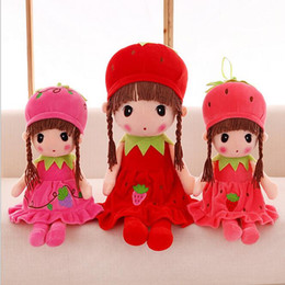 $enCountryForm.capitalKeyWord NZ - New Arrival Hot plush Toys Cute Strawberry Fairy Mayfair Child Doll 5 Colors Placate Doll Cushions Birthday Gifts Girls