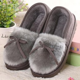 $enCountryForm.capitalKeyWord Canada - Sell like hot cakes Winter Women Slippers Bowtie Ladies Home Floor Slippers Soft Women Indoor Slippers Warm House Shoes Female Casual Shoes