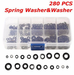 $enCountryForm.capitalKeyWord Canada - 280Pcs Stainless Steel Flat Washer and Spring Washers Assortment Set 10 Values Ten Kinds Popular Washers