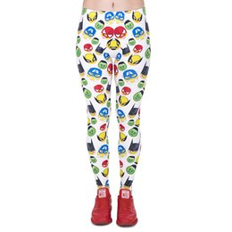 $enCountryForm.capitalKeyWord UK - Lady Leggings Superhero Emoji 3D Graphic Print Women Skinny Stretch Fitness Yoga Pants Girl Capris Colorful Pattern Sports Trousers (J44026)