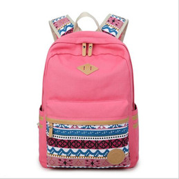 5bb51ff61606 2017 Vintage Girl School Bags For Teenagers Cute Dot Printing Canvas Women  Backpack Mochila Feminina Casual Bag School Backpack