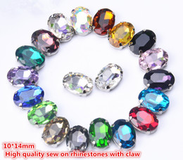 $enCountryForm.capitalKeyWord NZ - free shippment! fancy 10*14mm oval sew on crystal buttons with metal claw setting ,Sewing buttons stone buttons 35pcs lot