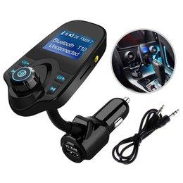 T10 автомобильный беспроводной Mp3 музыкальный плеер Bluetooth FM передатчик громкой связи автомобильное зарядное устройство комплект с TF слот для карт 1.44