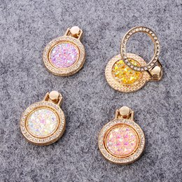 Wholesale Min Mixed Order Cell Phone Case Charms Alloy Ring Finger Decoration Mobile Phone Holders stands Accessories