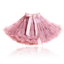 red white tutus UK - Pettiskirt with Ruffle baby Tutu skirt one piece retail girl skirt Baby Girl ball gown girls tutu ballet skirt