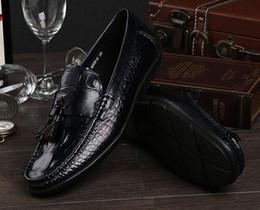 $enCountryForm.capitalKeyWord Canada - Tassel shoes men loafers slip on black italian fashion luxury business office male casual leather men shoes flats