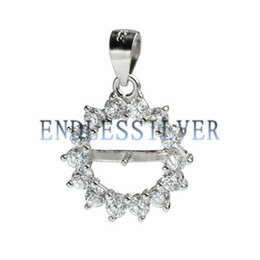 $enCountryForm.capitalKeyWord UK - Pendant Settings Blank Base Zircon Surrounded Circle 925 Sterling Silver DIY Jewellery Finding Mountings for Pearl Party