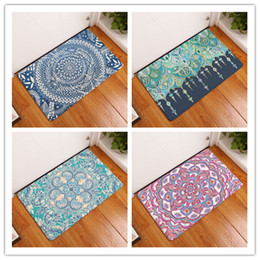 Shower mat online shopping - Ethnic Style Digital Bath Mat Bathroom D Printing Non Slip Originality PVC Water Uptake Carpet Suction Shower Pad xrg J R