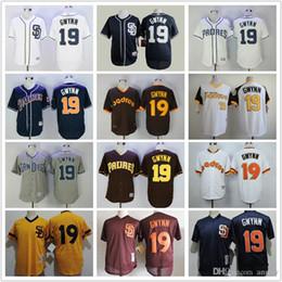 319b5adc2 MLB Baseball Jersey Grey White Pinstripe Pullover Mens San Diego Padres  Jersey 19 ...