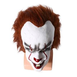 Christmas Movie Costumes UK - 2017 Christmas mask TOY Pennywise Costume It The Movie By Stephen King it Scary Clown Mask Men's Cosplay Prop free shipping