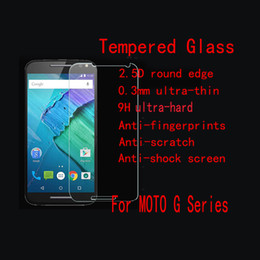 g5 screen glass NZ - 9H 0.26mm Explosion-Proof Protective Screen Guard Tempered Glass Film for Motorola Moto G G2 G3 G4 G4 Plus G4 Play G5 G5Plus