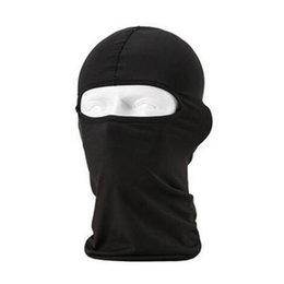 Discount paintball mask airsoft - Black Balaclava Masks - Sports Breathable Windproof Paintball Airsoft Head Hat Motorcycle Bicycle Army Full Face Mask