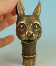 $enCountryForm.capitalKeyWord Canada - Copper Brass CHINESE crafts decoration Chinese Old Bronze Handmade Carved Rabbit Collect Statue Walking gift Copper Brass crafts decoration