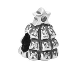$enCountryForm.capitalKeyWord UK - Fits Pandora Bracelets 30pcs Crystal Christmas Tree Silver Charm Beads Charms For Wholesale Diy European Necklace Snake Chain Bracelet