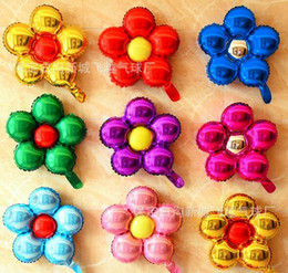 Aluminum flower online shopping - Home cm five flowers Aluminum foil balloons lovely toys Wedding favors and gifts children s birthday party decoration balloons