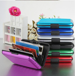 Wallets europe online shopping - Waterproof Business ID Credit Card Wallet Holder Aluminum Metal Case Box prevent the demagnetization Credit Card Pack