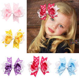 $enCountryForm.capitalKeyWord NZ - 2017 Multi-colored Hot Sale Hair Clips For Girls Lovely Hairbows Ribbons Accessories Wholesale China Fabric Headdress Party New Fashion