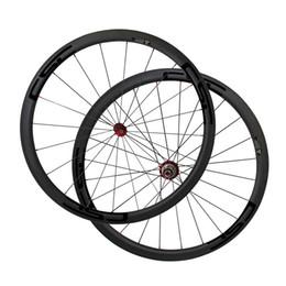Discount tubeless bicycle - 700C Full Carbon 38mm Tubuless 23mm Width Road Bike wheels Superlite Powerway R36 Road Bicycle Wheelset New Arrival Carb