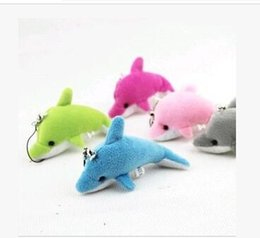 Kids Dolphin Toys Canada - Free shipping Dolphin phone pendant Bag pendant wedding party gift Small dolls Plush pendant toys Stuffed Animals hot sale new arrive