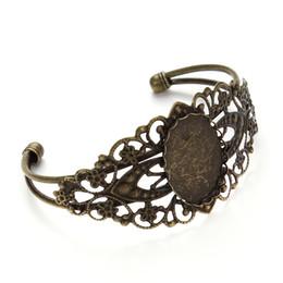 $enCountryForm.capitalKeyWord UK - Bracelet plating bronze generation of 18 mm * 25 mm oval bezel-set, tray, adjustable, brass plate, wholesale, diamond lace bracelets
