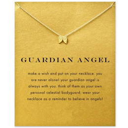 $enCountryForm.capitalKeyWord NZ - Dogeared Choker Necklaces with Card Gold Silver Wings Pendant Necklace For Fashion Women Jewelry GUARDIAN ANGEL