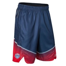 China Brand New Basketball Shorts USA Team Sport Basketball Traning Gym Sport Basketball Fitness Shorts For Men Free Shipping suppliers