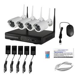 Vente en gros Vente chaude en gros 4 canaux wifi cctv systèmes de surveillance 12v système de caméra de sécurité à domicile en plein air sans fil