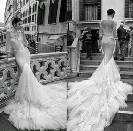 $enCountryForm.capitalKeyWord Canada - Fabulous Mermaid Wedding Dresses With Jacket Sweeteart Neckline Lace Beaded Wedding Gowns Sweep Length Backless Bridal Dress