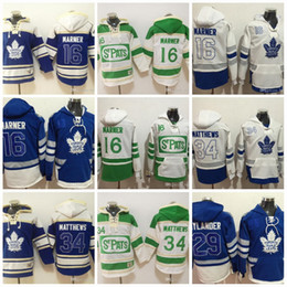 eae77738aa5 Toronto Maple Leafs Hockey Hoodies 34 Auston Matthews 16 Mitch Marner 29  William Nylande 100th 2017 Centennial Classic ST Pats Hoodie Jersey