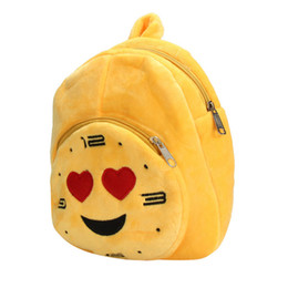 Discount school girl satchel backpack rucksack - Wholesale- Hot Sale !! Cute Emoji Emoticon Shoulder School Child Bag Backpack Satchel Rucksack Backpacks school bags for