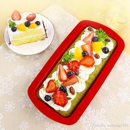 Mold Stick Canada - 1 pcs DIY Silicone Bread Loaf Mold Cake Non Stick Bakeware Baking Pan Oven Soap Mould ZH780