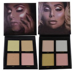 Capri De Color Baratos-Maquillaje de Maquillaje 3D Highlighters Glow Kit 4 Colores Highlighters Dorado y Rosa Sands Palette Cosmética Face Capri Santorini Azores Ibiza + Gift