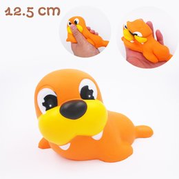 Chinese  50PCS DHL free Slow Rising Squishy Kawaii sea lion Aquarium Scented Kids Toy Gift A winged horse Cake Cream manufacturers