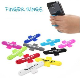 Wholesale Mini Touch U One Touch Silicone Stand Finger Rings Universal Portable Phone Holder For iPhone huawei Samsung Tablet PC