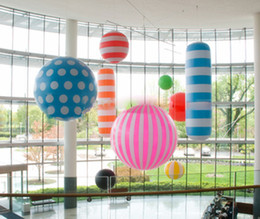 Party dots for balloons online shopping - Diferent Style spherical inflatable ceiling hanging Inflatable ball with dot or color strip for party made in China