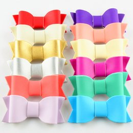 $enCountryForm.capitalKeyWord NZ - 2017 New Without clips 3inch DIY children headdress PU leather felt cloth bow 12 color hair accessories