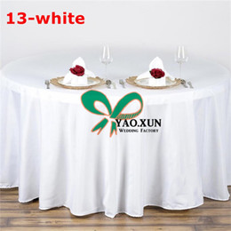 cheap round polyester table cloths NZ - 5pcs Sale Round Poly Table Cloth \ Cheap Price Wedding Table Cloth