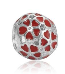 $enCountryForm.capitalKeyWord UK - Wholesale Cherry Blossom Beads Charm Fit Sterling Silver European Charms Bead Bracelet Fit Snake Chain Pandora Bracelet Women DIY Jewelry