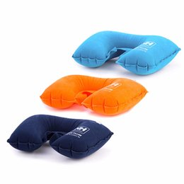 $enCountryForm.capitalKeyWord NZ - Wholesale- Sales Promotion Ultralight Flocking Portable Inflatable Outdoor Camping Travel Soft Pillow Free Shipping Well Sell