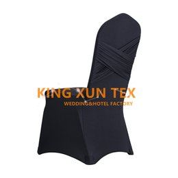 Wholesale Chairs For Events Canada - Stretch Lycra Spandex Chair Cover Back With Swag Drape For Wedding And Event Decoration Free Shipping