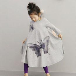 $enCountryForm.capitalKeyWord Canada - Girls Clothing Kids Large Butterfly Trumpet Japanese Lovely Comfortable Princess Skirt Children Printing Horn Dresses