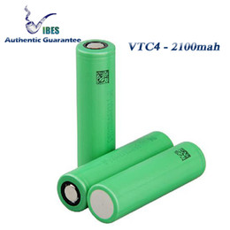 $enCountryForm.capitalKeyWord Canada - Authentic Guarantee - Japan VTC4 18650 Rechargeable High Drain Batteries 2100mah 30a Lithium Battery For Kanger Electronic Cigarette Box Mod