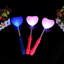 $enCountryForm.capitalKeyWord Canada - Star Love Heart Flower Wand Flashing LED Glow Light Sticks Blinking Stick Kids Child Light Up Toy Party Concert Novetly Led Toys ZA1459